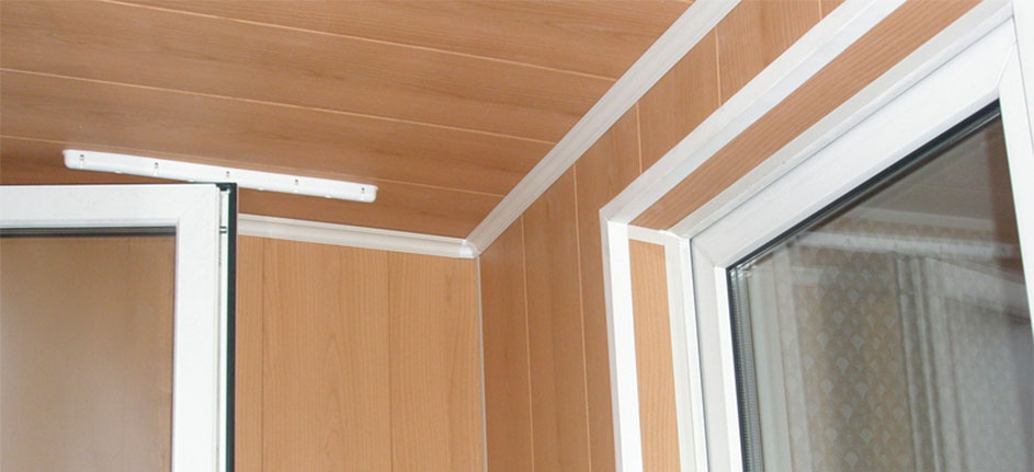 Панели из мдф для отделки стен балкона..